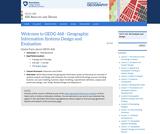GIS Analysis and Design