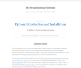 The Programming Historian 2: Python Introduction and Installation