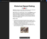 Historical Speed Dating