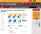 Numerical Methods for Partial Differential Equations, Spring 2009