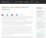 Effective Use of SMS: Make the Maximum