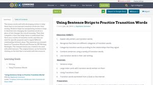 good sentence transition words