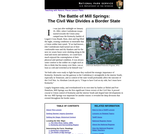 The Battle of Mill Springs: The Civil War Divides a Border State