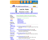 Ask Dr. Math Elementary Number Sense/About Numbers