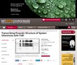 Transcribing Prosodic Structure of Spoken Utterances with ToBI, January (IAP) 2006