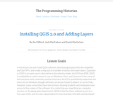 The Programming Historian 2: Installing QGIS 2.0 and Adding Layers