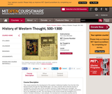 History of Western Thought, 500-1300, Fall 2004