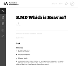K.MD Which is Heavier?