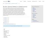 BA 285 - Business Relation in a Global Economy