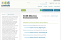 ACES: Effective Communication