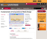 Fundamentals of Computational Media Design, Fall 2008