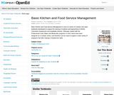 Basic Kitchen and Food Service Management