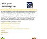 Basic Word Processing Skills