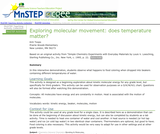 Exploring Molecular Movement: Does Temperature Matter?