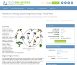 Got Energy? Spinning a Food Web