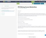 FYC Writing Course; Module Zero