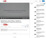 Einführung in Java mit BlueJ - Kapitel 5.2: Objektorientierte Programmierung (Praxis)