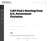 3.NF Find 1 Starting from 5/3, Assessment Variation