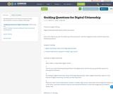 Guiding Questions for Digital Citizenship