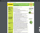 Health Literacy: Grade 2-3 Lesson, Broccoli/Cauliflower PDF