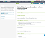 Digital Media:  Learn to Use Audacity to Create Audio Recordings