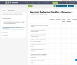 Creativity Evaluation Checklist —Elementary