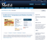 S-290 Unit 5: Temperature and Relative Humidity Relationships