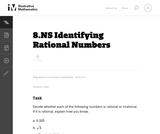 Identifying Rational Numbers