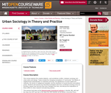 Urban Sociology in Theory and Practice, Spring 2016