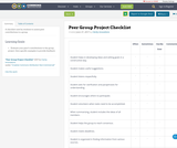 Peer Group Project Checklist