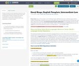 Emoji Bingo, English Template, Intermediate Low