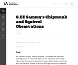 8.EE Sammy's Chipmunk and Squirrel Observations