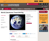 World Literatures: Travel Writing, Fall 2008