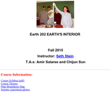Geol 202: The Earth's Interior