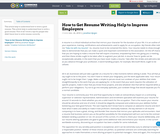 How to Get Resume Writing Help to Impress Employers