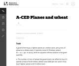 Planes and Wheat