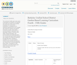 Berkeley Unified School District Garden-Based Learning Curriculum Fourth – Fifth Grades