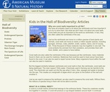 Kids in the Hall of Biodiversity