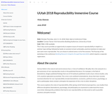 Reproducibility Immersive Course