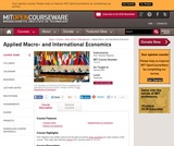 Applied Macro- and International Economics, Spring 2004