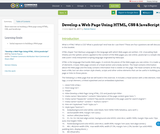 Develop a Web Page Using HTML, CSS & JavaScript