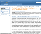 The Politics of Ethanol and the Future of Next Generation Biofuels