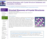 Directed Discovery of Crystal Structures