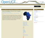 Access to Knowledge in Africa: The Role of Copyright