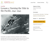 Lesson 1: Turning the Tide in the Pacific, 1941-1943