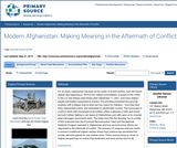 Modern Afghanistan: Making Meaning in the Aftermath of Conflict