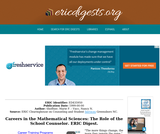 Careers in the Mathematical Sciences: The Role of the School Counselor