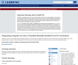 Integrating Computer Use Into A Trainable Mentally Disabled Level Iv Curriculum.