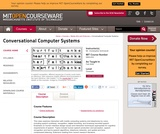 Conversational Computer Systems, Fall 2008