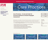 Core Practices - A List and Links for Practices Related to Student-Engaged Assessment